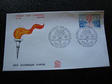 ANDORRE (francais) - enveloppe 1er jour 18/2/1984 (jo sarajevo) (cy63) andorra(U