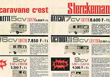 PUBLICITE ADVERTISING  1964   STERCKEMAN  caravane  ( 2 pages)