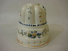 "Vintage Secia Portugal Dainty Floral Porcelain Wall Deco Mold, 6"" T X 5 3/4"" Dia"