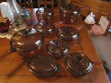 Set of Vision WARE PYREX Amber COOK WARE 26 piece near perfect visions