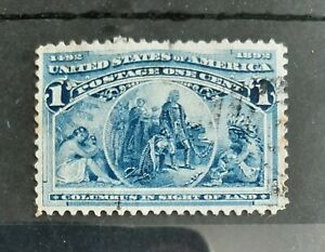 1893 1c Columbian Exposition U.S Stamp Scott #230 Fine Used as shown