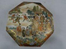 Satsuma Japanese box Signed Meiji era