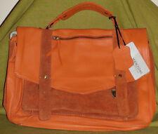 Manzoni Leather Satchel in Burnt Orange