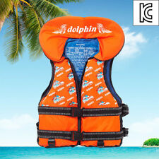 Dolphin Orange Life Jacket Vest For Kid Swimming Survival Sailing Floatation v_e