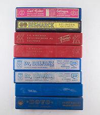Vintage Plastic Straight Razor Boxes Bismarck Carl Rader Dovo Friodur Henckels