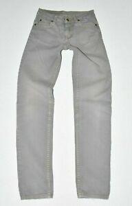 Women's CHEAP MONDAY Zip Fly Skinny Grey Denim Jeans Size UK6 W26 L31