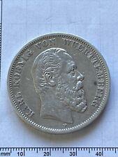 Münze 5 Mark Deutsches Reich 1875 F Karl König v. Wuerttemberg traum Erhaltung!