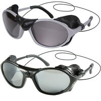 Tactical Flying Sunglasses Wind Side Guard Leather Panel UV400 Lense Sun Glasses