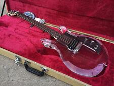 Custom Acrylic Lucite Clear Electric Guitar See Thru Glass EMG-HZ PICKUP