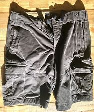 Men's Abercrombie and Fitch Cargo shorts - Size w30 Grey Charcoal
