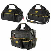 "Cat 3 Pc. Toolbag Set 18"" Roller Toolbag, 13"" & 16"" Wide Mouth Toolbags - 240080"
