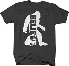 Believe bigfoot silhouette funny sasquatch mythical creature T Shirt for Men