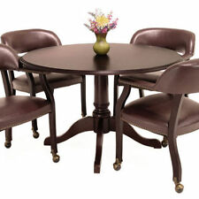Traditional Round Conference Room Table 42 Mahogany Wood Office Meeting Space
