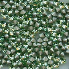 1028 SS29 CH *** 12 strass Swarovski  fond conique 6,2mm CHRYSOLITE F
