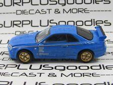 Greenlight 1:64 LOOSE Collectible Blue 2001 NISSAN SKYLINE GT-R R34 (BNR34)