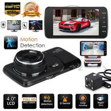 "4"" 1080P Dual Lens Car Dash Cam Front and Rear Camera Dashboard 170°DVR Recorder"