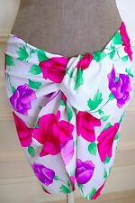 TYCHE VALERIE Floral Print Short Lycra Beach Cover-up Skirt One-Size FRANCE