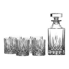 Royal Doulton Crystal Seasons 7pc Decanter Set (set of 6 Tumblers )