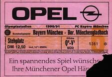 Ticket BL 90/91 FC Bayern München - Borussia Mönchengladbach