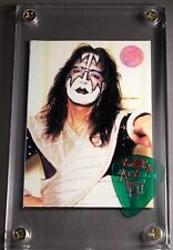 KISS Ace Frehley Cornerstone preview card / Farewell tour guitar pick display!!!