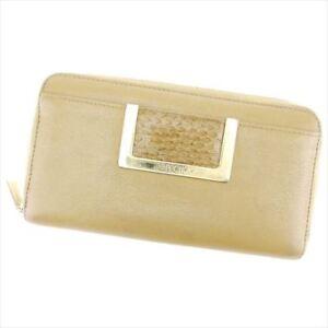 Jimmy Choo Wallet Beige Woman Authentic Used C3184