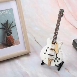 Exquisite Mini Guitar Model 5.5'' Basswood Miniature Electric Guitar Replica