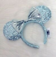 NEW Disney Parks Teal Frozen Arendelle Aqua Minnie Mouse Ears Sequin Headband