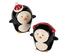 Ceramic Penguin Salt & Pepper Pot / Shakers Christmas Tableware Xmas Decoration