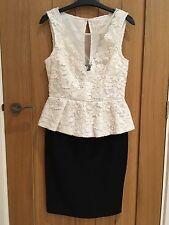 Lipsy Peplum Dress BNWOT Size 10
