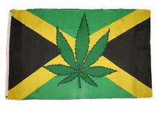 3x5 Jamaica Jamaican Leaf Weed Cannibis Pot Marijuana Flag 3'x5' Banner Grommets