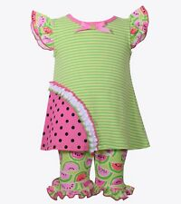 BONNIE JEAN® Little Girls 5, 6 Watermelon Tunic & Shorts Set NWT $48