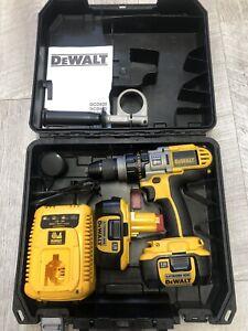 Dewalt DCD925 XRP Cordless 18V Combi Hammer Drill +2 X DE9180 Li-Ion Batteries