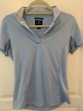 Horze Equestrian Blue Short Sleeve Shirt Size 6