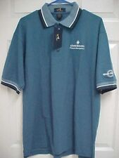 EMERSON PROCESS MGMT Men Ceramic Blue Short Sleeve Polo Shirt L Ash City New Tag