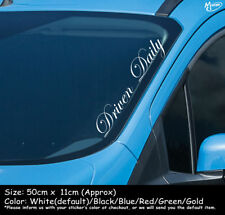 DRIVEN DAILY Reflective Funny Car Windscreen Stickers Decals 50cm Best Gifst-