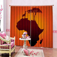 Lonely Warrior Figure 3D Curtain Blockout Photo Printing Curtains Drape Fabric