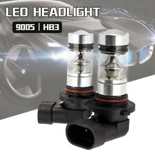 2PC 9005 HB3 9145 H10 8000K 100W Driving Light Bulb LED Cree Projector Fog White