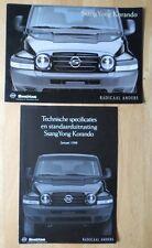 SSANGYONG Korando 4x4 brochure prospekt & spec folder 1998 - Dutch market