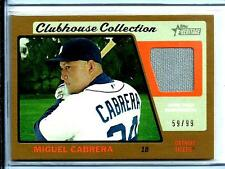 2015 Topps Heritage Clubhouse Gold Jersey Miguel Cabrera D# 59/99 Detroit Tigers