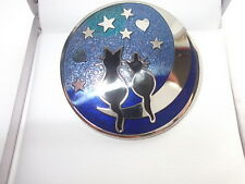 "Cat Brooch - ""Cats on Moon"""