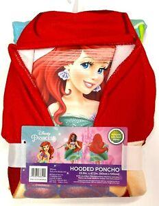 Disney Ariel Beach Bath Poncho Hooded Towel Birthday Gift The Little Mermaid New
