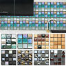 3D Mosaic Sticker Kitchen Tile Stickers Bathroom Self-adhesive Wall Decor Home
