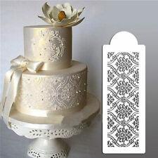 HR- LACE FLOWER MOLD MOULD SUGAR CRAFT FONDANT MAT CAKE DECORATING BAKING TOOL F