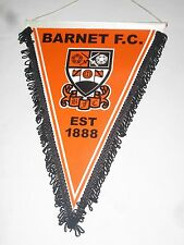 fanion wimpel pennant XL BARNET FOOTBALL CLUB  ENGLAND ANGLETERRE old ancien