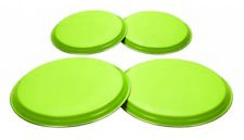 Zodiac Set of 4 Lime Green Stainless Steel Electric Hob Cover Protector Lid