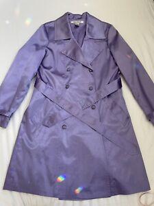 Purple Lavender Satin Trench Coat size 12 - Ladies, Spring, Evening, Jacket