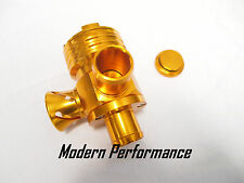 GOLD Diverter Splitter Turbo Blowoff Valve VW 1.8T Golf Jetta Beetle A4 TT BOV