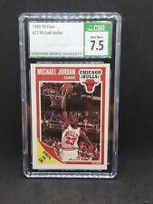 1989-90 Fleer Michael Jordan CSG 7.5 Near Mint +