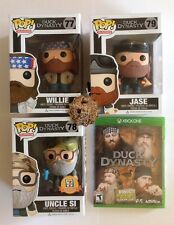 FUNKO Duck Dynasty BUNDLE Willie 77, Uncle Si 78, Jase 79, XBOX ONE, Key Ring
