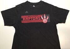 Adidas Toronto Raptors Mens T Shirt Sz S Black / Red Basketball Canada Cotton
